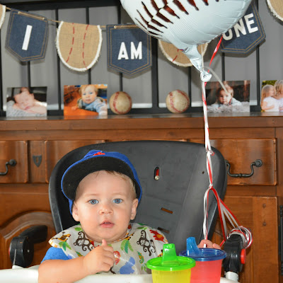first birthday baseball theme
