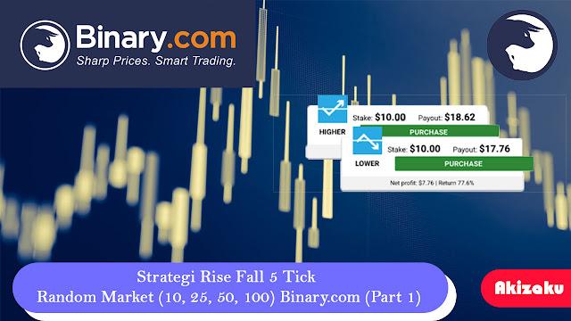 Strategi Rise Fall 5 Tick Random Market (10, 25, 50, 100) Binary.com (Part 1)