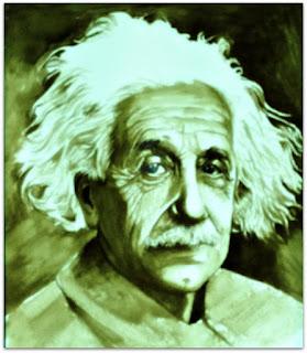 Albert Einstein - Pintura em Café - Luís Paulo, Guaíba