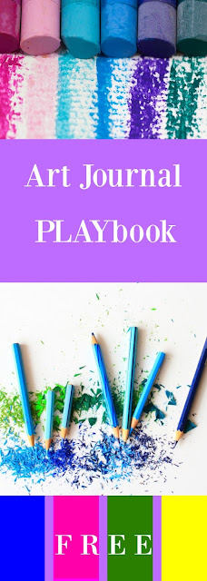 Art Journal PLAYbook Challenge for Beginners: Magazine Bits, Letters, Hand Lettering, Bug-a-Doodle Bits, Bird