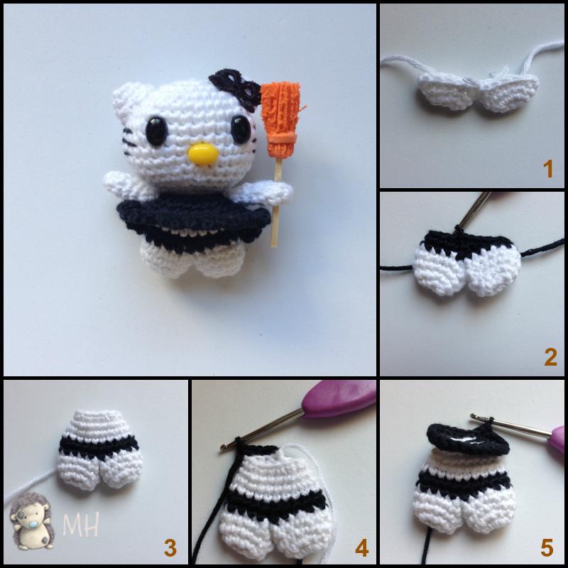Instrucciones Hello Kitty amigurumi