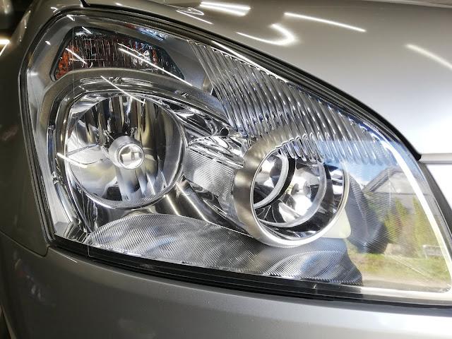 日産/デュアリス  ヘッドライトの劣化・くすみ復元リペア+劣化防止コーティングafter