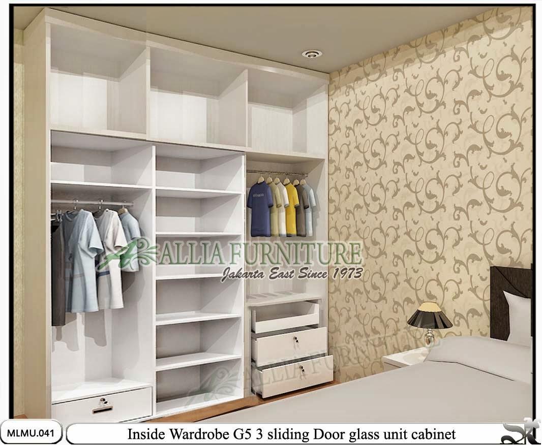 Dalam lemari minimalis sliding model unit cabinet G5