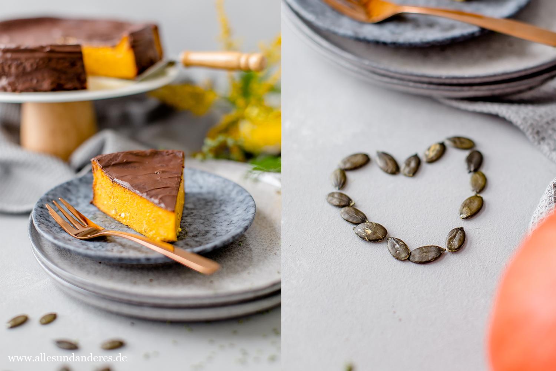 Saftiger Kurbiskuchen Mit Schokolade Alles Und Anderes