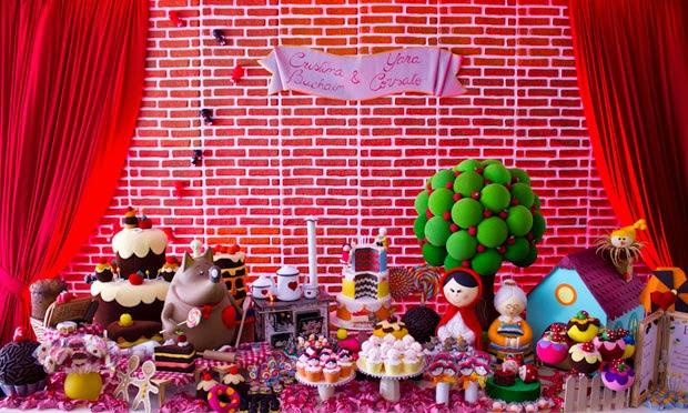 Festinha com tema Chapeuzinho Vermelho
