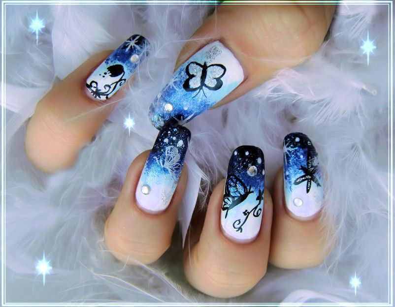 Nail art: Nail art designs on natural nail by Emy