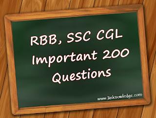 RBB,SSC CGL 200 Questions
