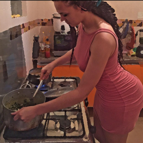 ik ogbonna wife cooking igbo soup