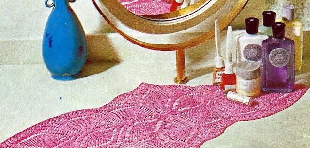 Patrón 1035 Tapete Ovalados para Tocador a Crochet