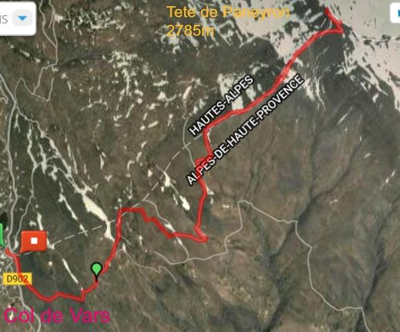 Tete de Paneyron trail
