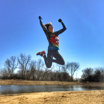 Jumping for Joy over those speedy intervals!