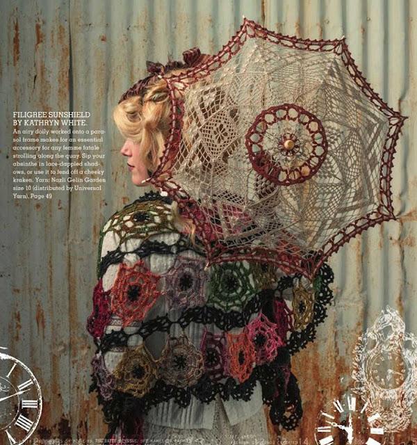 Patrón #1222: Filigree Sunshield a Crochet