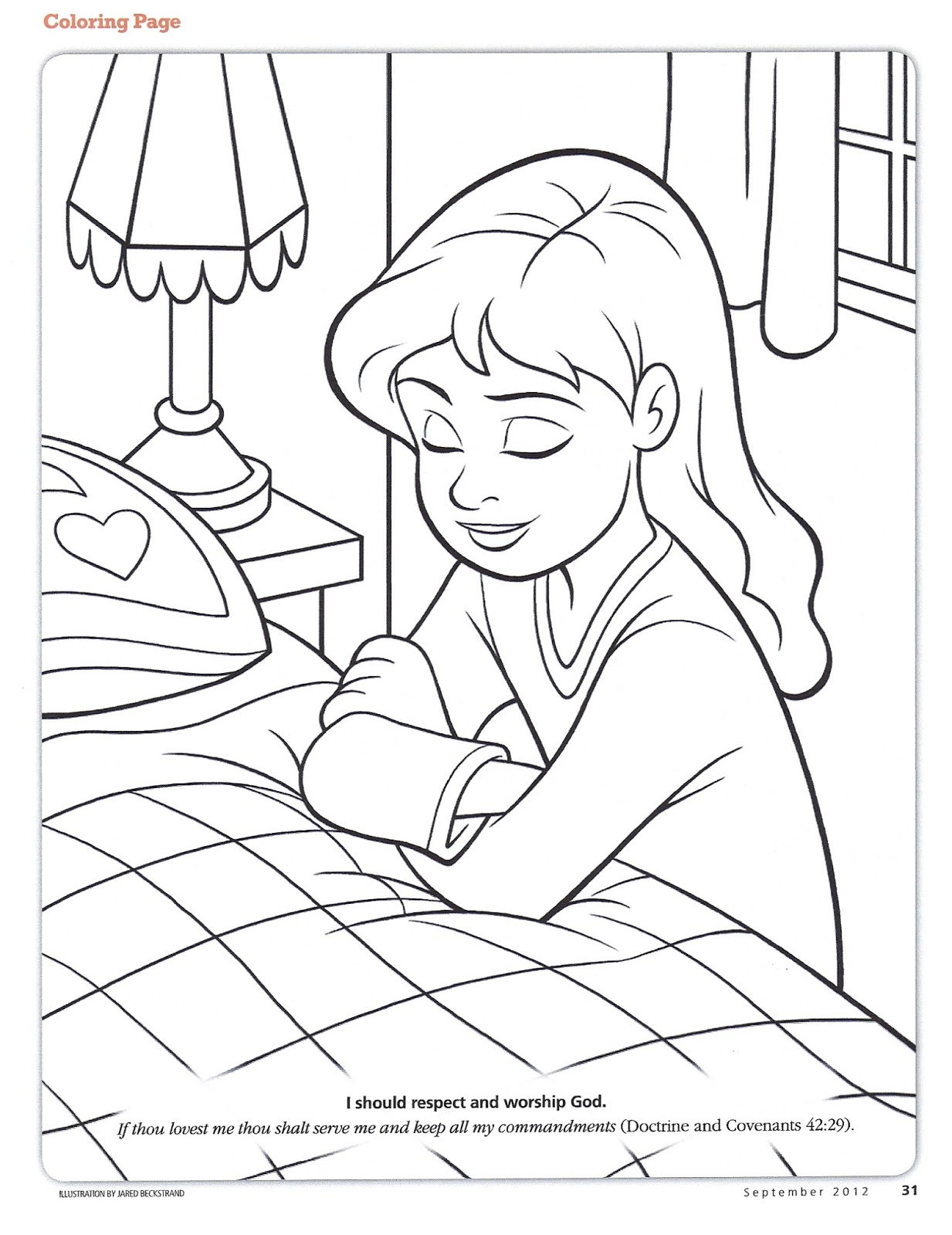 kids prayer coloring pages - photo#15