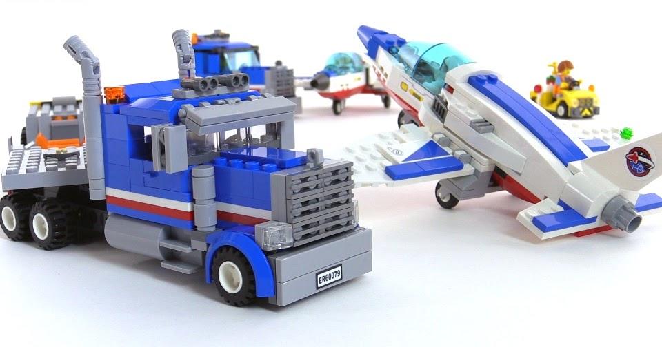 LEGO City Training Jet Transporter minor mods