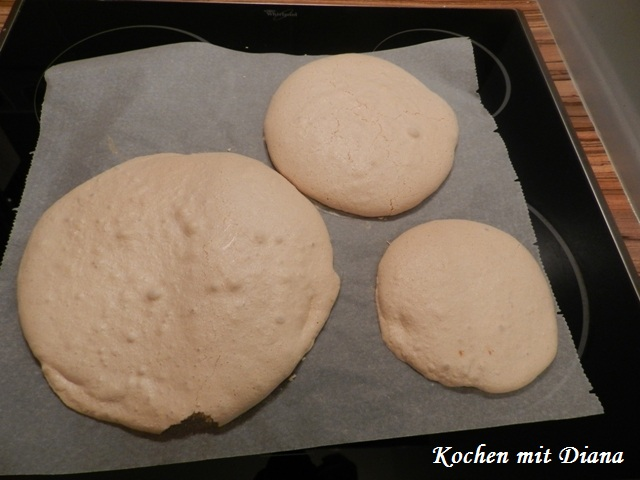 Baiser nach dem Backen
