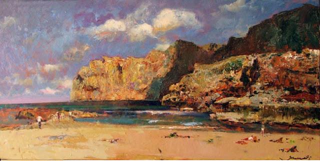 Joan Marti Aragonès, Cala San Vicente, Mallorca en Pintura, Mallorca pintada, Paisajes de Mallorca