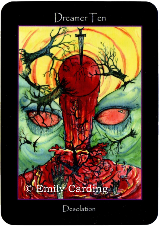 Tarot of the  Sidhe Dreamer Ten Desolation Emily Carding