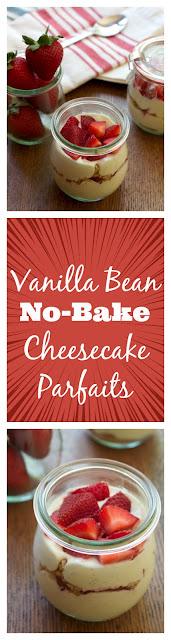 Vanilla Bean No-Bake Cheesecake Parfaits    A Less Processed Life