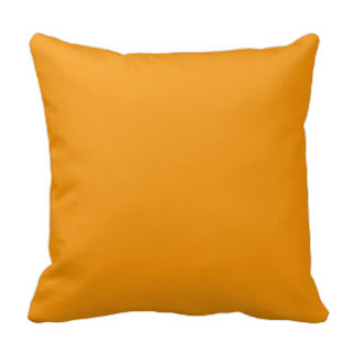 Turmeric throw pillow