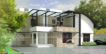 Curved Roof Modern House Plans