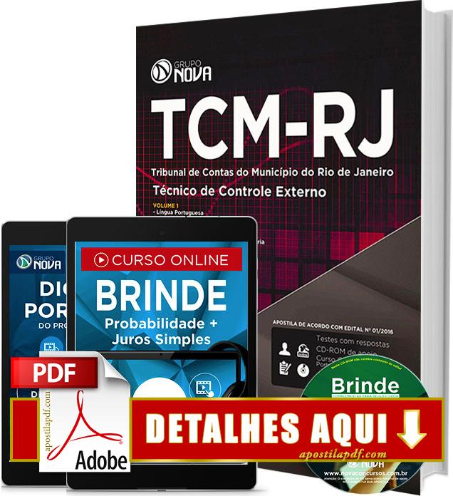 Apostila TCM RJ 2016 Técnico de Controle Externo Impressa