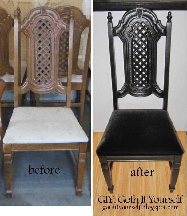 GIY: Goth It Yourself: Dining Chair Revamp
