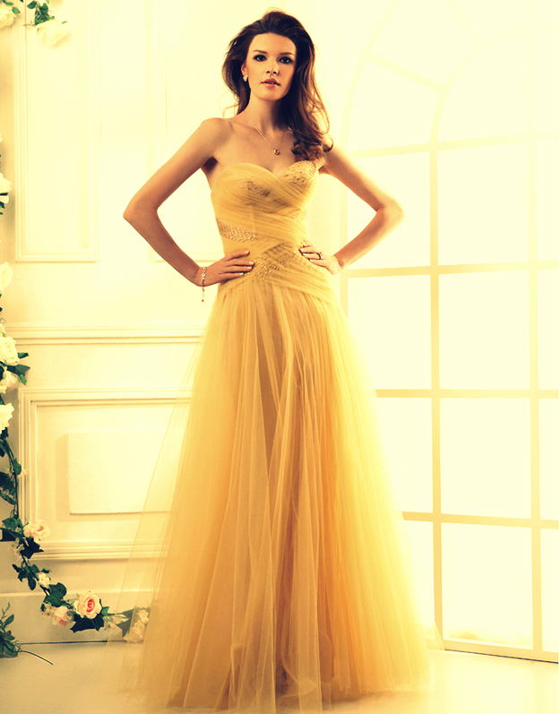 Yellow Belle Prom Dress  Gown And Dress Gallery