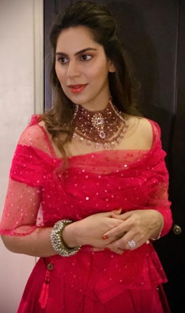 Upasana Kamineni Ruby Beads Choker