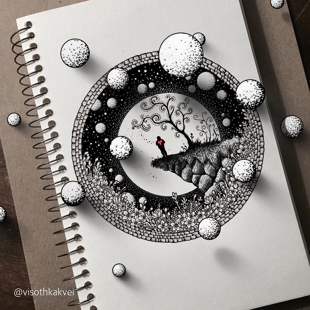 10-Snow-Balls-Visoth-Kakvei-Intricate-Doodles-that-include-Optical-Illusions-www-designstack-co