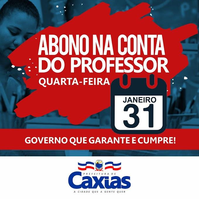 Prefeitura de Caxias concede abono salarial no valor de R$ 1.000,00 aos professores nessa quarta-feira (31)