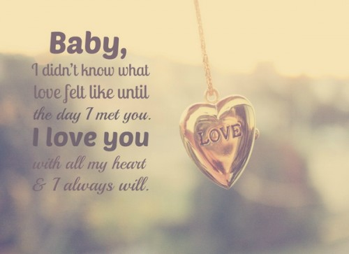 baby i love you messages