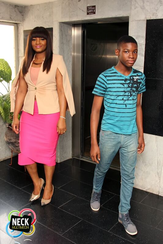 omotola Jalade-Ekeinde's congratulates her son as he graduates from secondary school