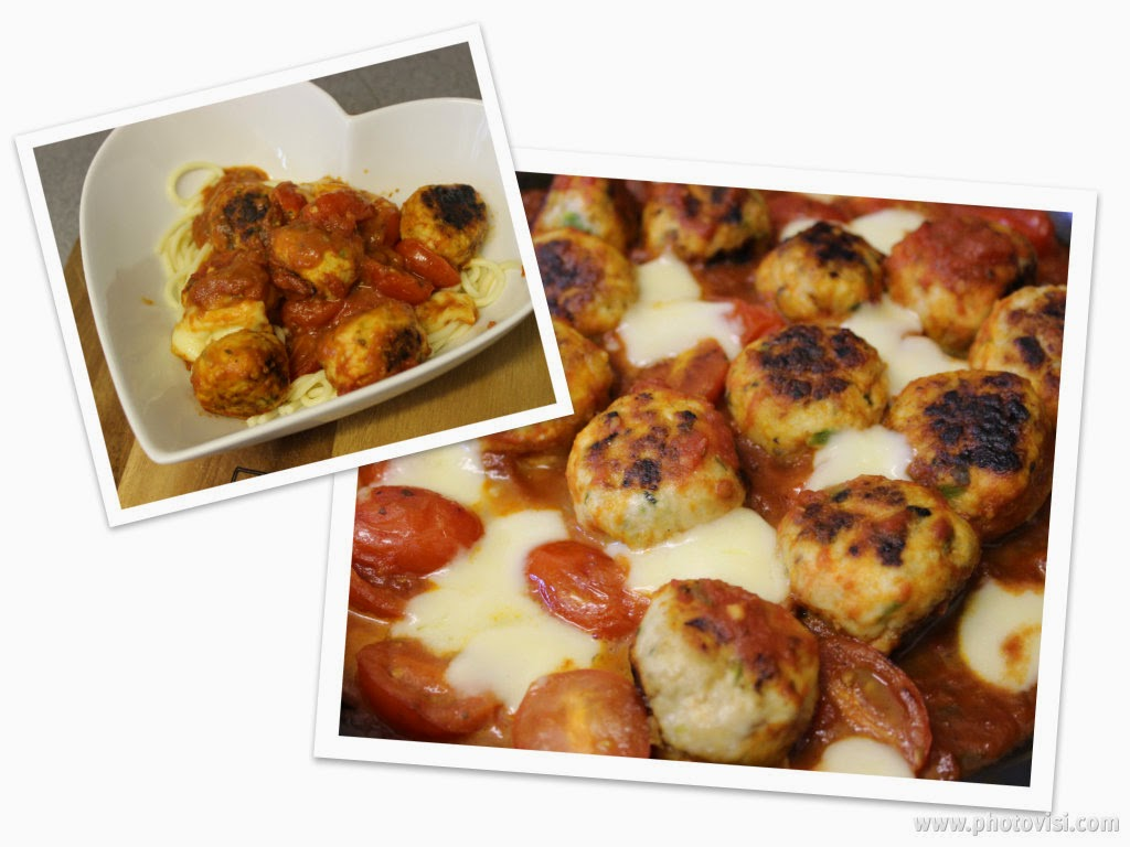 Turkey Meatballs with Mozzarella