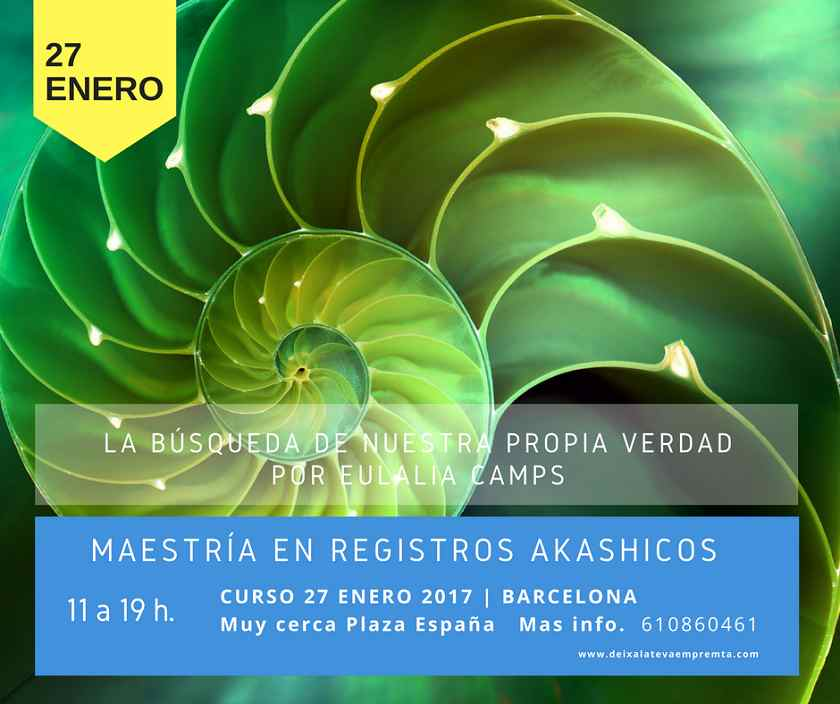 Curso de Maestría en Registros Akáshicos, organizado por deixalateveempermta.org