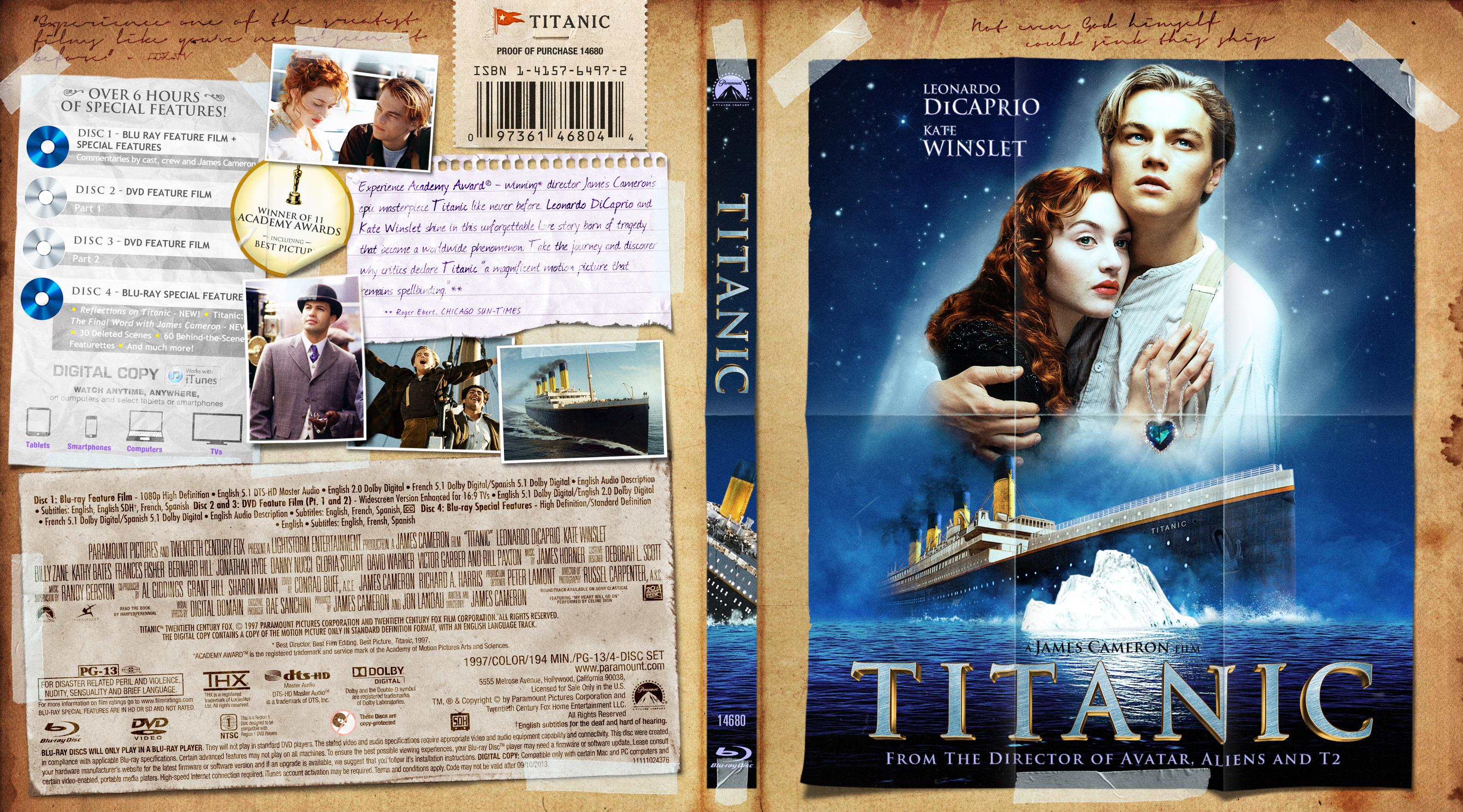 Titanic Bluray Cover | Cover Addict - Free DVD, Bluray ...