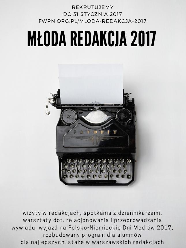 Młoda Redakcja 2017 - staże dla studentów