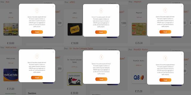 6c4d7b4865 SIXTHCONTINENT: c'è l'obbligo di abbinare una Card Sponsorizzata (o in  alternativa si può optare per l'acquisto di un importo minimo variabile da  100 a ...