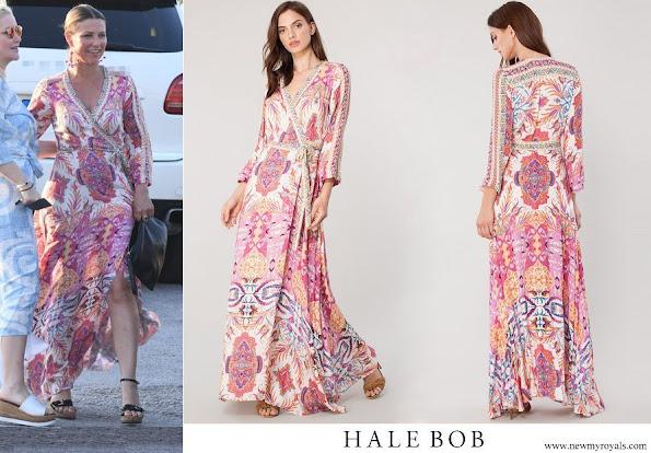 Princess Martha Louise wore Hale Bob Siria Wrap Maxi Dress