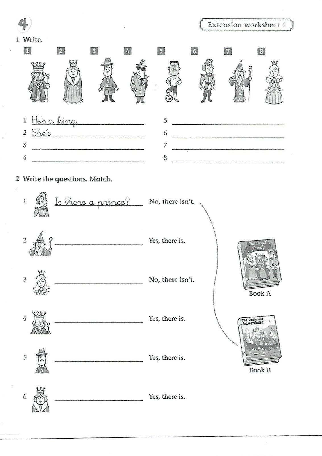 Colegio Galaxia English Class Extra Activities For Third Grade Unit 4 Actividades Extra
