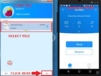 how to transfer file by shareit