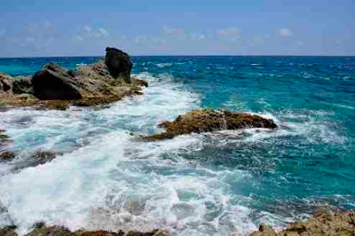 coastal views from Sculpture Park Isla Mujeres