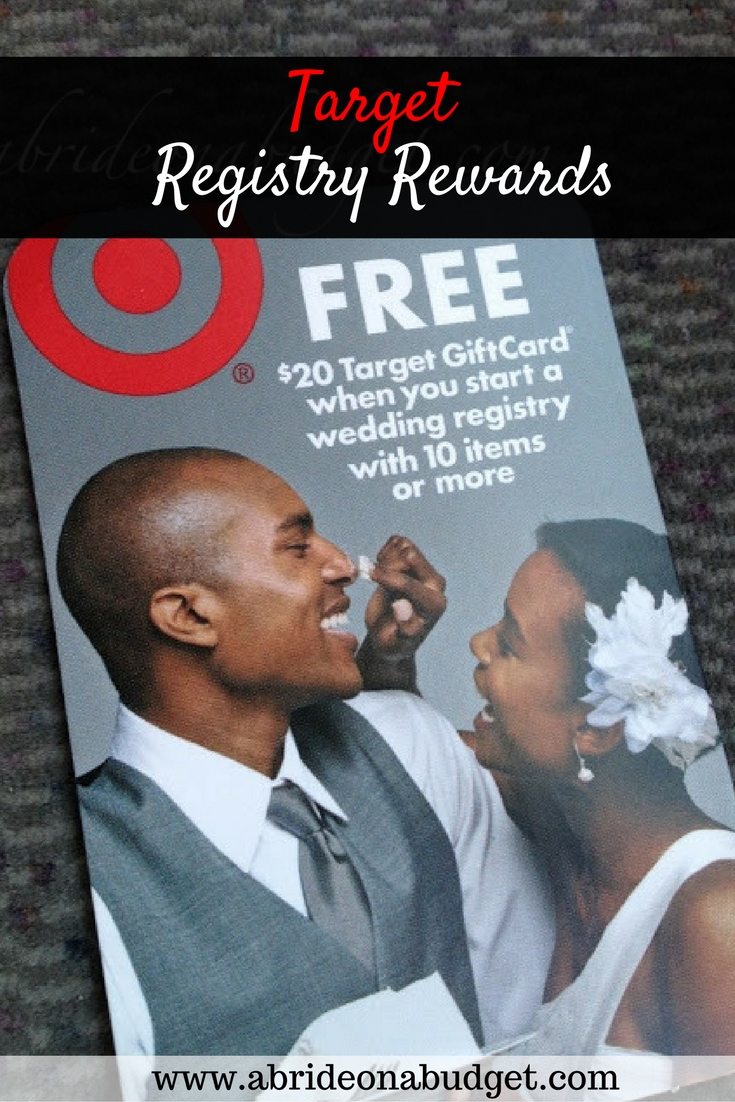 Registry Rewards From Target A Bride On A Budget