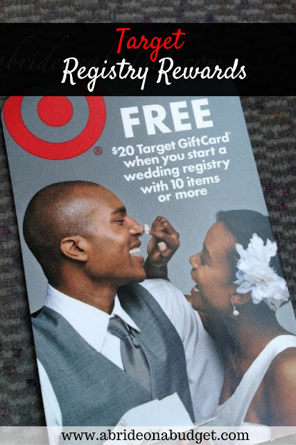 Planning on creating a Target Wedding Registry? You could get a $20 gift card! Details about this and other registries at www.abrideonabudget.com.