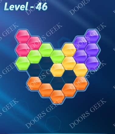 Block! Hexa Puzzle [Intermediate] Level 46 Solution, Cheats, Walkthrough for android, iphone, ipad, ipod