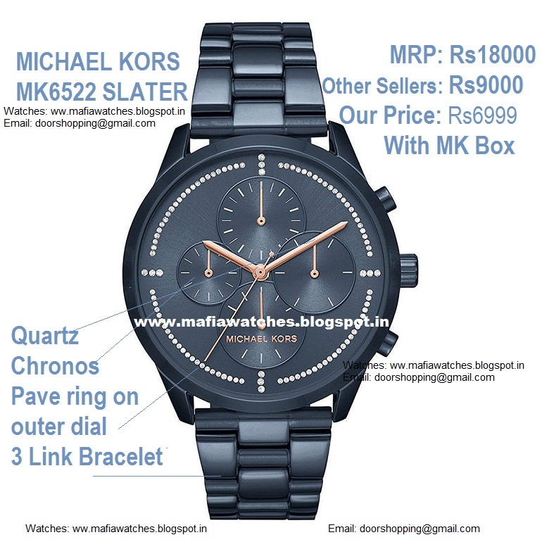 dcff34b98dfb MICHAEL KORS MK6522 SLATER Ladies Watch with Price in India Rs6999 With MK  BOX