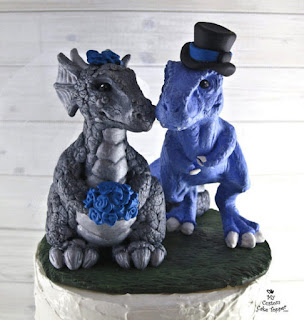 Top Dinosaur Wedding Cake Topper