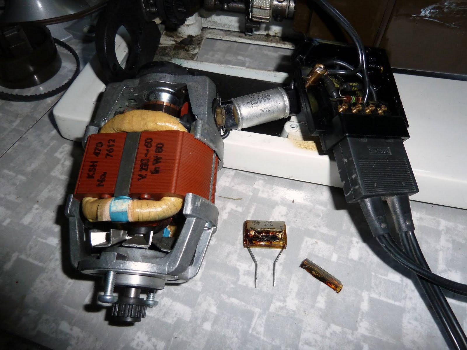 small resolution of the motor and terminal board assembly