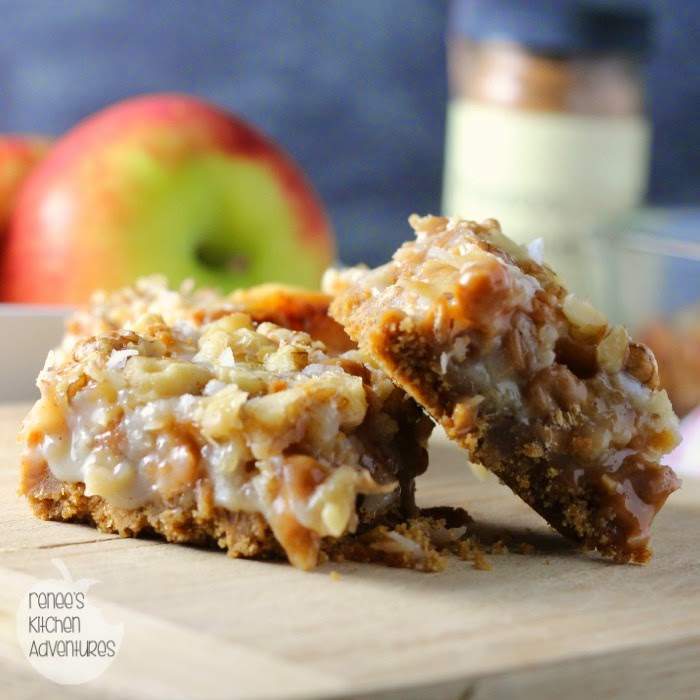 Salted Caramel Apple Magic Cookie Bars | Renee's Kitchen Adventures