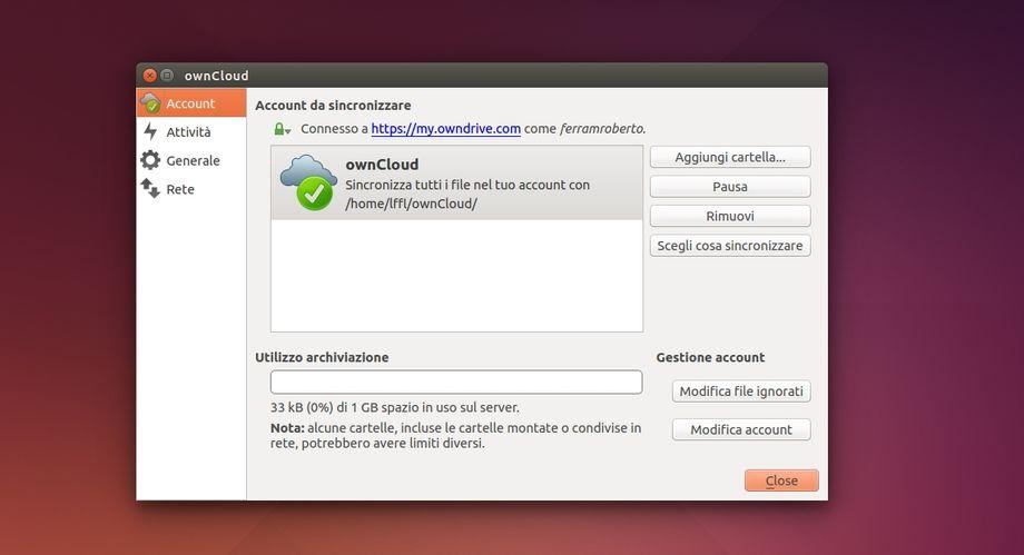 ownCloud Client in Ubuntu