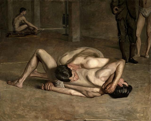 Thomas Eakins - lottatori - omoerotismo
